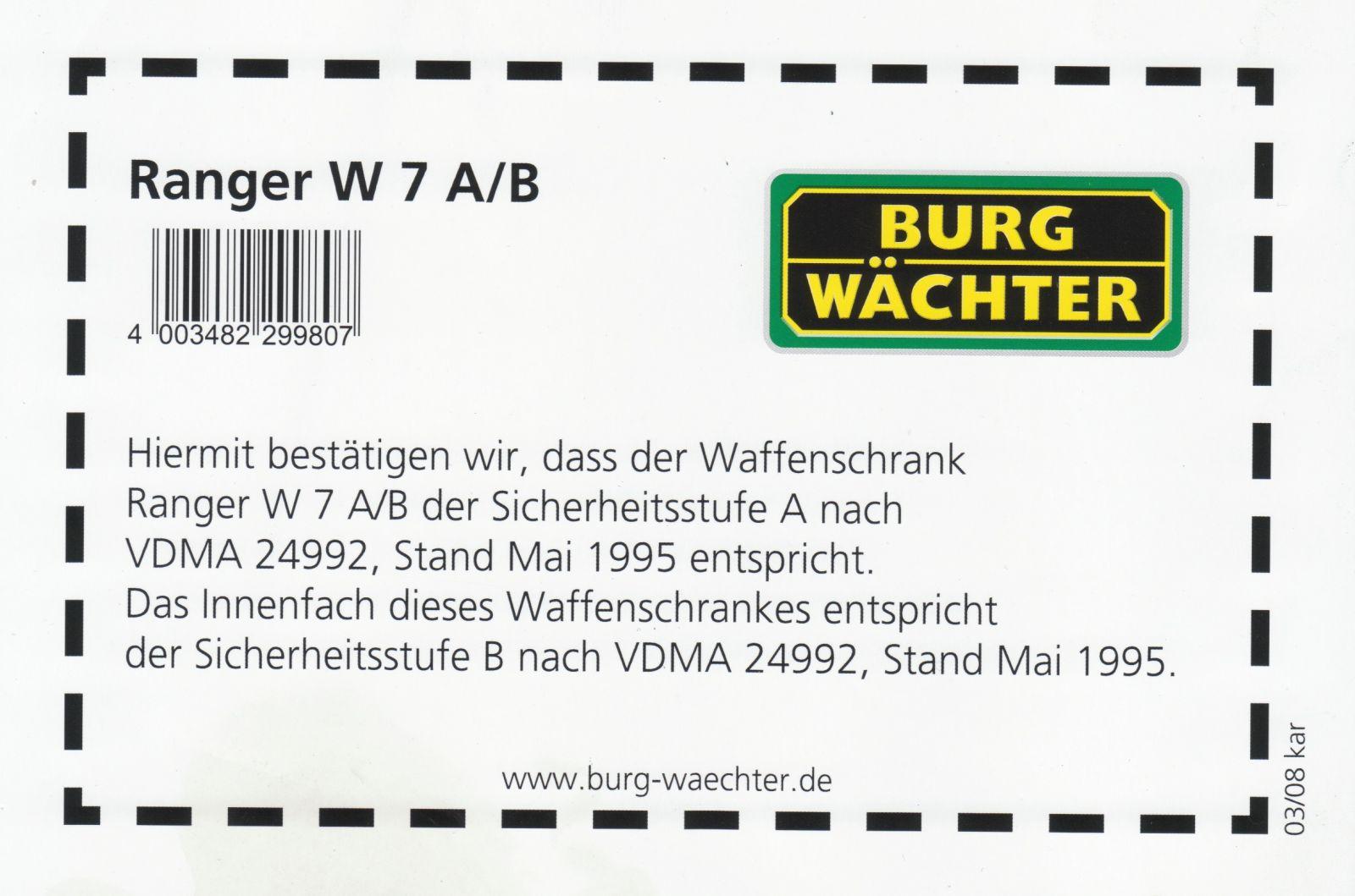 Charmant Waffenschränke Sicherheitsstufe B Galerie - Die Besten ...
